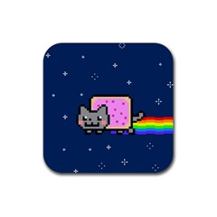 Nyan Cat Rubber Coaster (square)  by Onesevenart