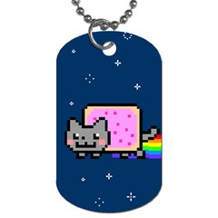 Nyan Cat Dog Tag (two Sides) by Onesevenart