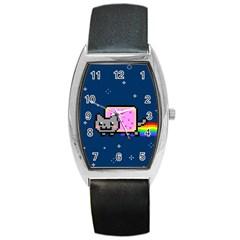 Nyan Cat Barrel Style Metal Watch by Onesevenart