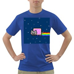 Nyan Cat Dark T Shirt by Onesevenart