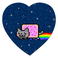 Nyan Cat Jigsaw Puzzle (heart) by Onesevenart