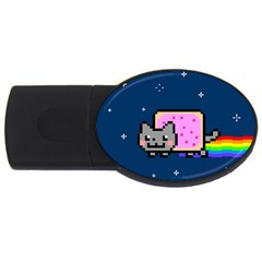 Nyan Cat Usb Flash Drive Oval (4 Gb) by Onesevenart