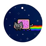 Nyan Cat Round Ornament (Two Sides)