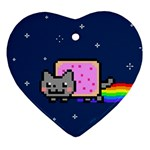 Nyan Cat Heart Ornament (Two Sides)