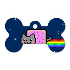 Nyan Cat Dog Tag Bone (two Sides) by Onesevenart