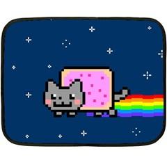 Nyan Cat Fleece Blanket (mini) by Onesevenart