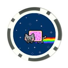 Nyan Cat Poker Chip Card Guard (10 Pack) by Onesevenart