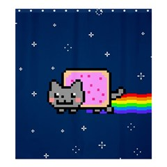 Nyan Cat Shower Curtain 66  X 72  (large)  by Onesevenart
