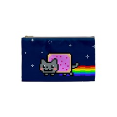 Nyan Cat Cosmetic Bag (small)  by Onesevenart
