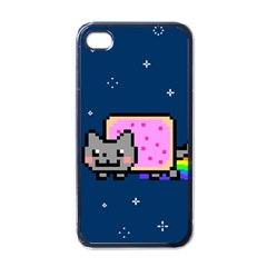 Nyan Cat Apple Iphone 4 Case (black) by Onesevenart
