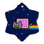 Nyan Cat Snowflake Ornament (Two Sides)