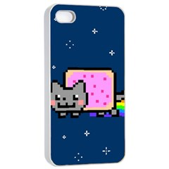 Nyan Cat Apple Iphone 4/4s Seamless Case (white) by Onesevenart