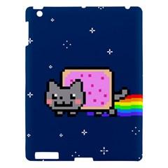 Nyan Cat Apple Ipad 3/4 Hardshell Case by Onesevenart