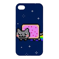 Nyan Cat Apple Iphone 4/4s Premium Hardshell Case by Onesevenart