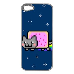 Nyan Cat Apple Iphone 5 Case (silver) by Onesevenart