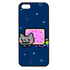 Nyan Cat Apple Iphone 5 Seamless Case (black) by Onesevenart
