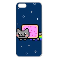 Nyan Cat Apple Seamless Iphone 5 Case (clear) by Onesevenart
