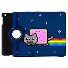 Nyan Cat Apple Ipad Mini Flip 360 Case by Onesevenart