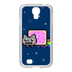 Nyan Cat Samsung Galaxy S4 I9500/ I9505 Case (white) by Onesevenart