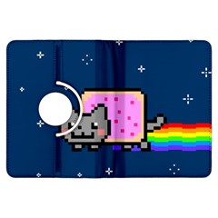 Nyan Cat Kindle Fire Hdx Flip 360 Case by Onesevenart