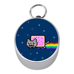 Nyan Cat Mini Silver Compasses by Onesevenart