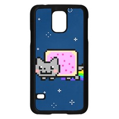 Nyan Cat Samsung Galaxy S5 Case (black) by Onesevenart