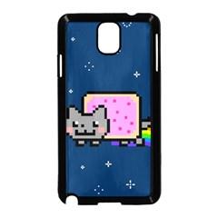 Nyan Cat Samsung Galaxy Note 3 Neo Hardshell Case (black) by Onesevenart