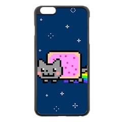 Nyan Cat Apple Iphone 6 Plus/6s Plus Black Enamel Case by Onesevenart