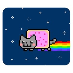 Nyan Cat Double Sided Flano Blanket (small)  by Onesevenart