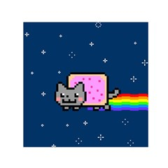 Nyan Cat Small Satin Scarf (square) by Onesevenart