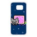 Nyan Cat Samsung Galaxy S7 edge White Seamless Case