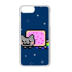 Nyan Cat Apple Iphone 7 Plus White Seamless Case by Onesevenart