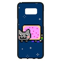 Nyan Cat Samsung Galaxy S8 Plus Black Seamless Case by Onesevenart