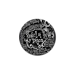 Panic ! At The Disco Lyric Quotes Golf Ball Marker by Onesevenart