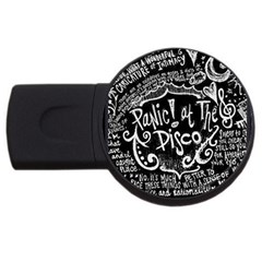 Panic ! At The Disco Lyric Quotes Usb Flash Drive Round (2 Gb) by Onesevenart
