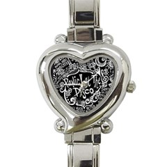 Panic ! At The Disco Lyric Quotes Heart Italian Charm Watch by Onesevenart