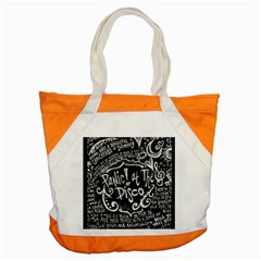 Panic ! At The Disco Lyric Quotes Accent Tote Bag by Onesevenart