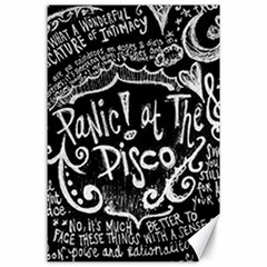 Panic ! At The Disco Lyric Quotes Canvas 24  X 36  by Onesevenart