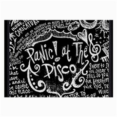 Panic ! At The Disco Lyric Quotes Large Glasses Cloth by Onesevenart