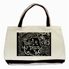 Panic ! At The Disco Lyric Quotes Basic Tote Bag (two Sides) by Onesevenart