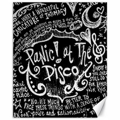 Panic ! At The Disco Lyric Quotes Canvas 11  X 14   by Onesevenart