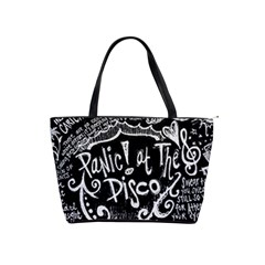 Panic ! At The Disco Lyric Quotes Shoulder Handbags by Onesevenart