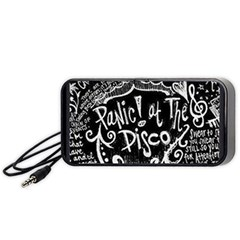 Panic ! At The Disco Lyric Quotes Portable Speaker (black) by Onesevenart
