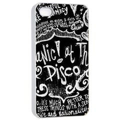 Panic ! At The Disco Lyric Quotes Apple Iphone 4/4s Seamless Case (white) by Onesevenart