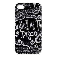 Panic ! At The Disco Lyric Quotes Apple Iphone 4/4s Hardshell Case by Onesevenart