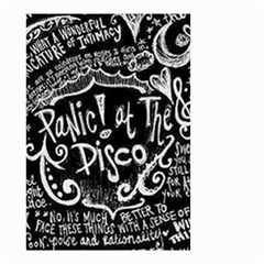 Panic ! At The Disco Lyric Quotes Small Garden Flag (two Sides) by Onesevenart