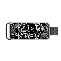 Panic ! At The Disco Lyric Quotes Portable Usb Flash (one Side) by Onesevenart