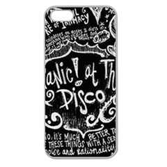 Panic ! At The Disco Lyric Quotes Apple Seamless Iphone 5 Case (clear) by Onesevenart