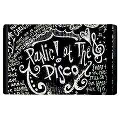 Panic ! At The Disco Lyric Quotes Apple Ipad 2 Flip Case by Onesevenart