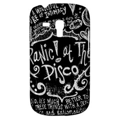 Panic ! At The Disco Lyric Quotes Galaxy S3 Mini by Onesevenart
